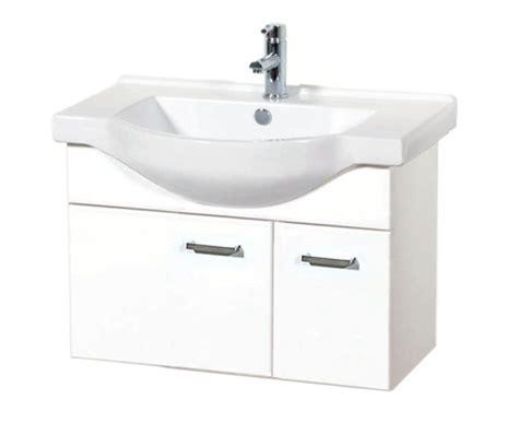 Montana Vanity by Montana 750 Wall Hung Semi Recessed Basin Vanity In White