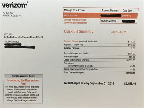 Verizon Is In Some Hot Water After Charging Customers For Unused Data Verizon Wireless Bill Template