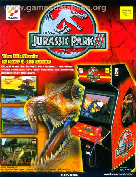 Pac Man Wall Stickers jurassic park 3 arcade games database