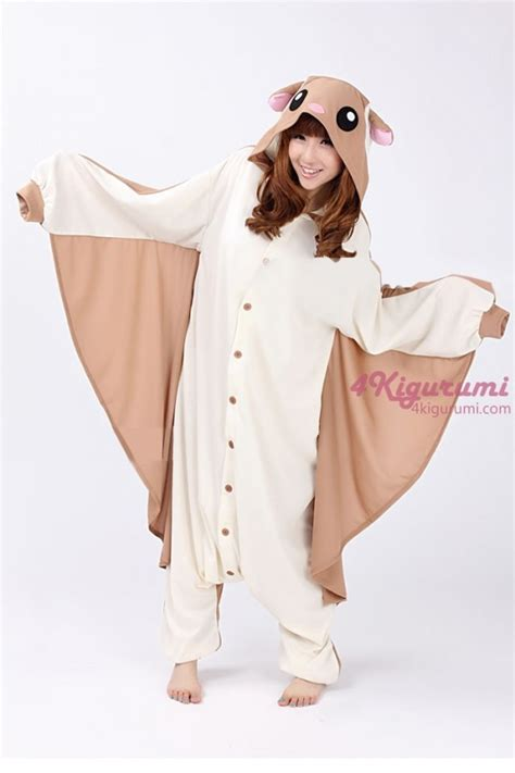 Animal Onesie Pajama flying squirrel kigurumi onesie 4kigurumi