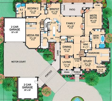 large home plans 604 best images about house plans floor plans on
