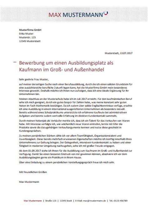 Bewerbungsschreiben Verkäuferin 3 Lehrjahr Bewerbungsmuster Kaufmann Frau Im Gro 223 Und Au 223 Enhandel