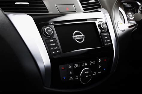 nissan navara interior video slow tease of new nissan truck shows car like interior