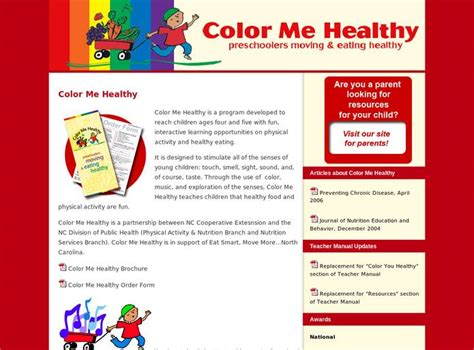 color me healthy resources digital chalkboard