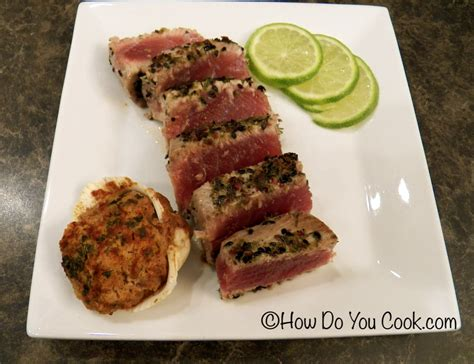 how do you cook com lime pepper seared tuna