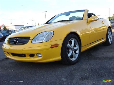 sunburst yellow 2003 mercedes slk 320 roadster