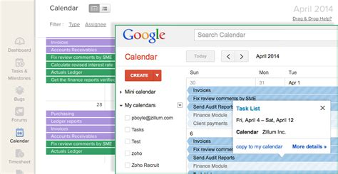 google project management collaboration zoho projects
