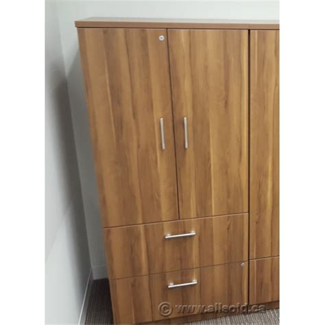 Walnut Lateral File Cabinet Hon Walnut 2 Drawer Lateral File Cabinet With 2 Door Storage Allsold Ca Buy Sell Used
