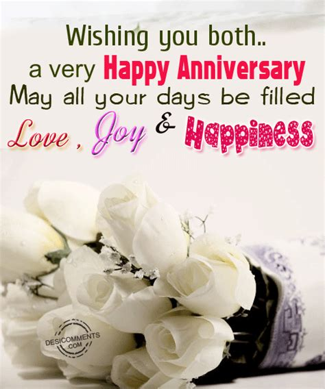 Wedding Quotes N Pics by Wishing You Both A Happy Anniversary Pictures Photos