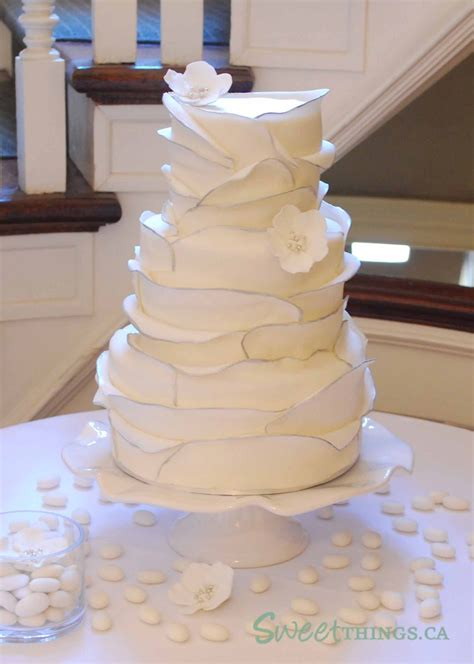 Wedding Cakes Ta by Sweetthings Ruffled Wedding Cake