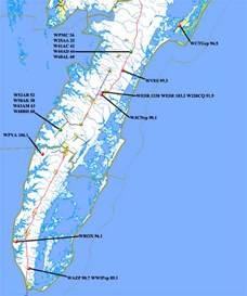 us eastern shore map va s eastern shore transmitters map