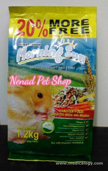 Harga Pakan Kelinci Morning Sun jual makanan hamster morning sun hamster seed grains big