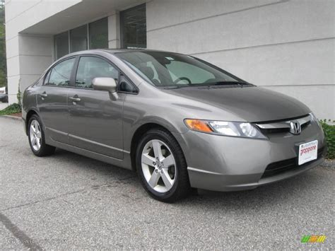 grey honda civic 2007 galaxy gray metallic honda civic ex sedan 18915450