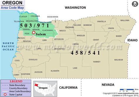 oregon area code map area code map oregon reanimators