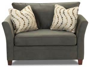 murano chair sleeper sofa in belsire pewter contemporary