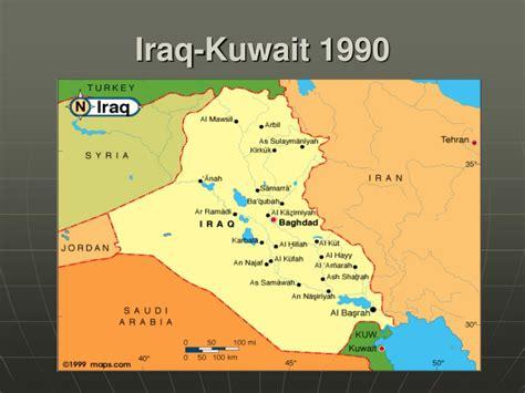kuwait and iraq map ppt george h w bush bush 41 powerpoint presentation