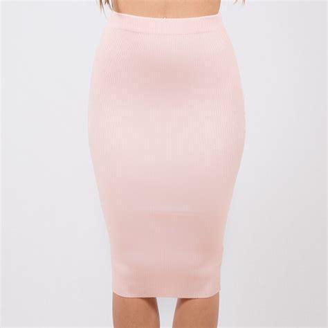 blush pink pencil skirt dress ala