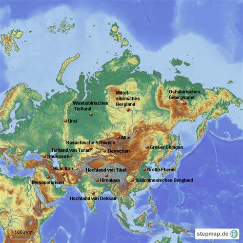 Asiat Gebirge by Pin Landkarte Asiens Und Physische Geographie On