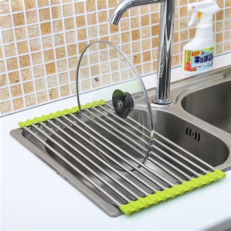 the sink roll up drying rack the sink roll up dish drying rack drainer