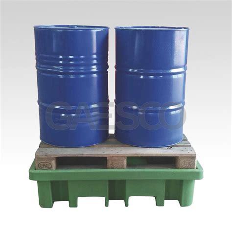 vasca in plastica vasca in plastica per 2 fusti 210 lt
