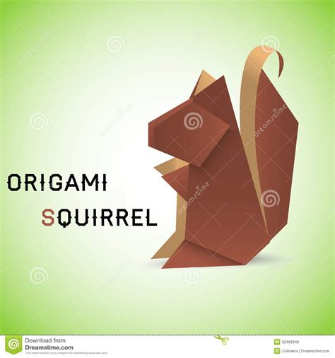 Easy Origami Squirrel - squirrel origami royalty free stock photos image 32469048