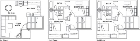 vista sol floor plans villas vista sol 4 bed 4 bath townhome vista