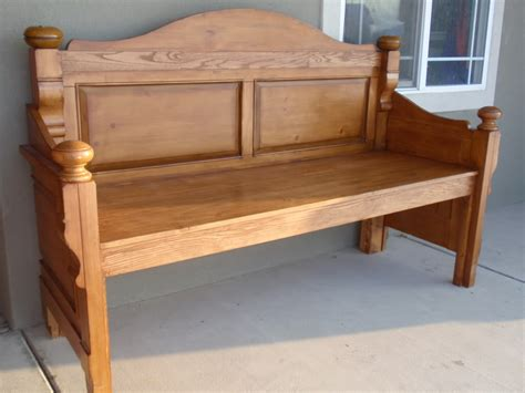 head board benches diary of a crafty lady headboard into beautiful stained bench