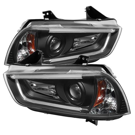 2012 dodge charger headlights dodge charger projector black headlights w led drl 2011