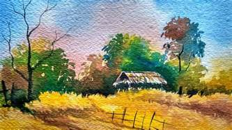 Landscape Paintings How To Watercolor Landscape Painting Demonstration
