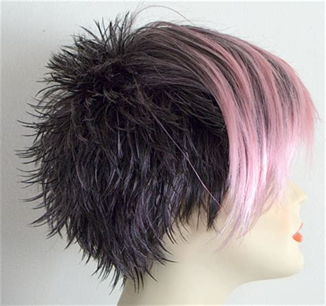 spiked hair in back longer in front wig electra side long jpg 400 215 376 hair pinterest