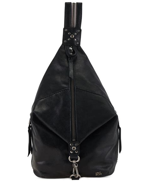 139 Leather Sling Bag Black Import lyst the sak dorado leather sling pack in black