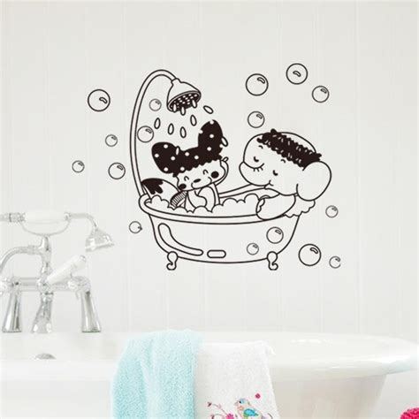 New Sweet Bathroom Wall Sticker Decal Home