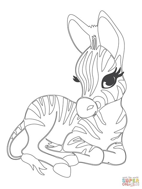 Baby Zebra Coloring Pages 301 moved permanently