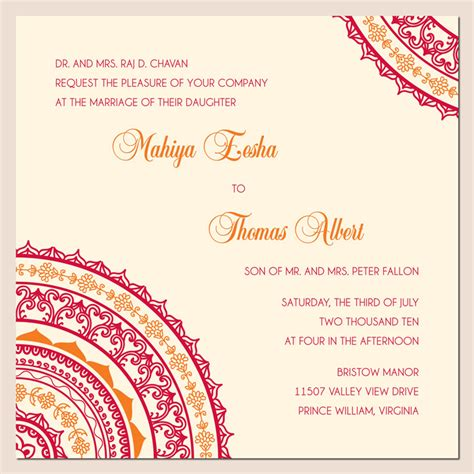 hindu wedding card template wonderful weddings the invitation cards for different