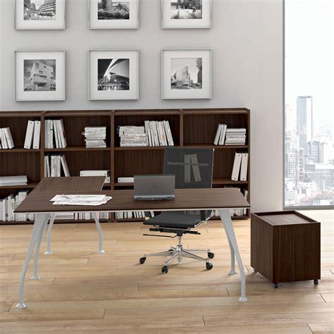scrivania rovere scrivania direzionale in melaminico rovere scuro segno
