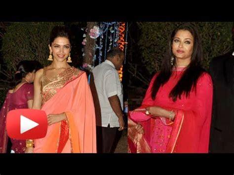 Aishwarya Post Wedding Ceremony by Aishwarya Or Deepika Padukone At Ahana Deol Wedding