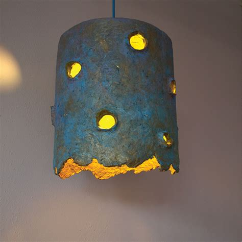 Paper Pulp Crafts - light sculpture holes on behance