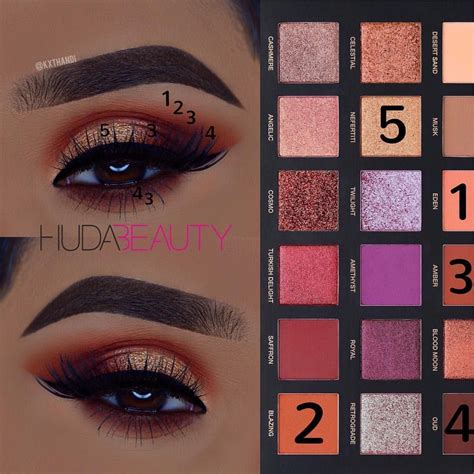 Eyeshadow Huda huda desert dusk palette eyeshadow makeup