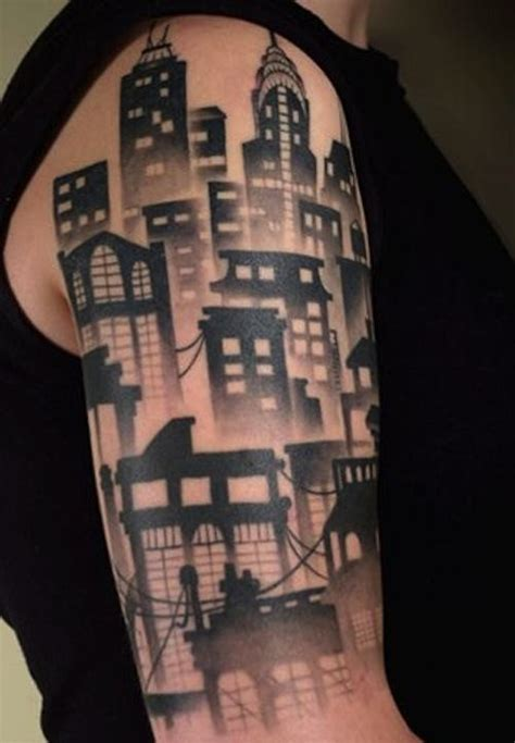 city skyline tattoo designs city skyline sleeve tattooic
