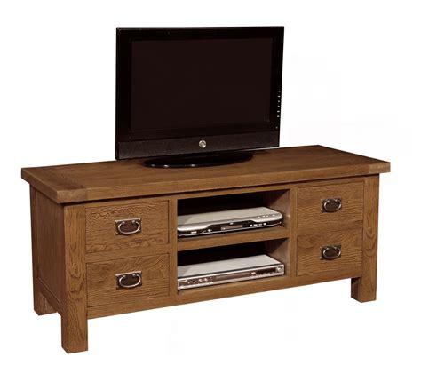 Dresser With Tv Shelf by Tv Unit With Shelf 4 Drawers Oak Furniture