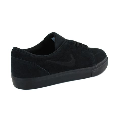 mens black nike sneakers nike skateboarding satire 536404 011 mens laced suede