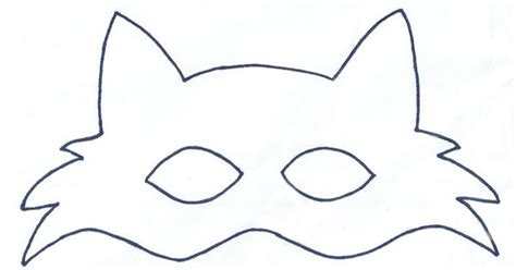 fox mask template sewing projects pinterest mask