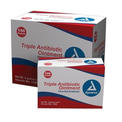 triple antibiotic ointment on tattoos antibiotic ointment 9 gram foil packet 144