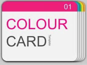 card powerpoint template power point templates 16 colour card