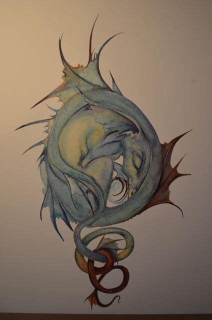 dragons den tattoo dragoncurldoor jackie morris artist