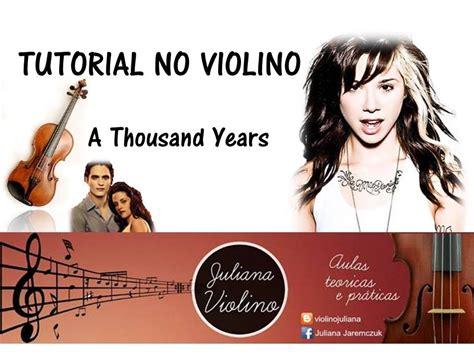 tutorial gitar thousand years a thousand years no violino tutorial youtube