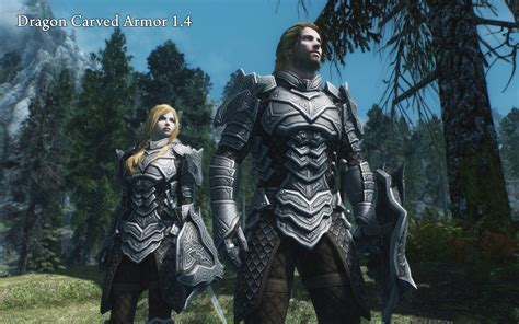 skyrim nexus mods and community dragon carved armor set at skyrim nexus mods and community