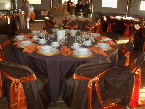 chocolate brown and orange wedding   Google Search