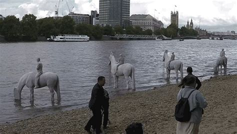 river thames underwater must see horse art in thames river for totally thames fest