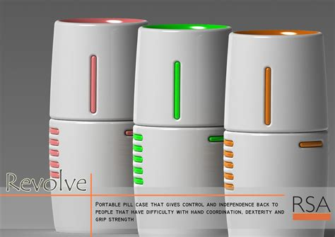Kitchen Accessories Design revolve ergonomic pill dispenseruniversal design style